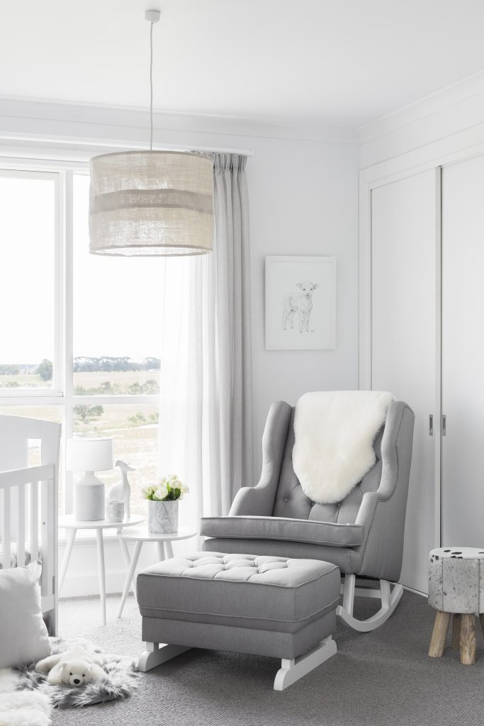 emma-hawkins-nursery-featuring-the-tasman-eco-capri-4-in-1-cot-bed-in-white-bebe-care-regent-chair-and-rocker-in-heather-grey
