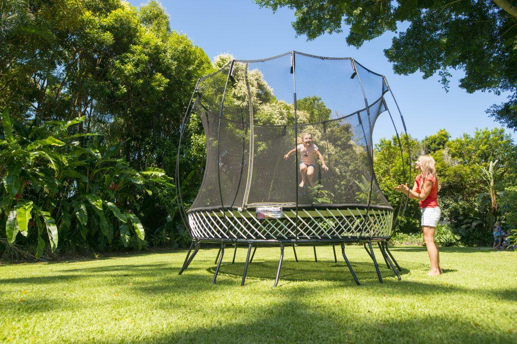 Family fun on the Springfree trampoline