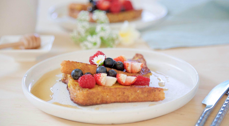 Pumpkin, banana & cinnamon French toast recipe