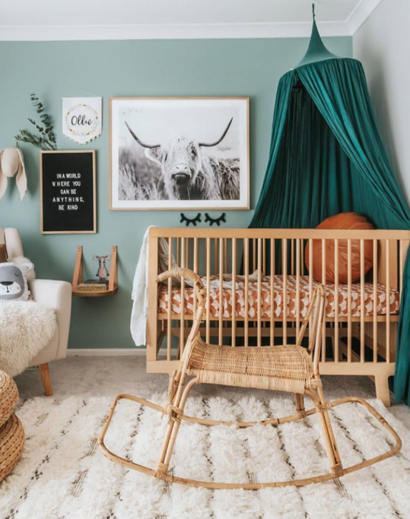 Indi and bear boho style kids rooms