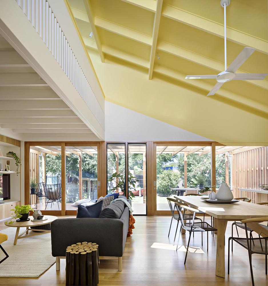 Joyful House dining and lounge area