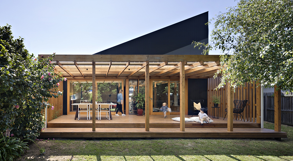 Joyful House exterior by Mihaly Slocombe