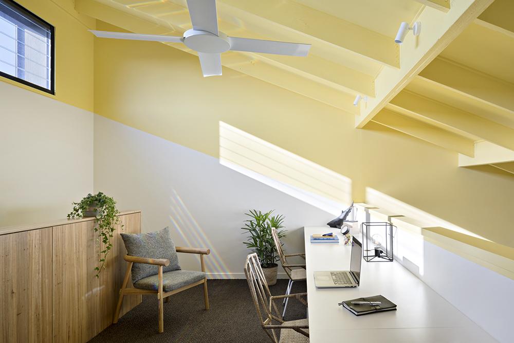 Joyful House yellow home office
