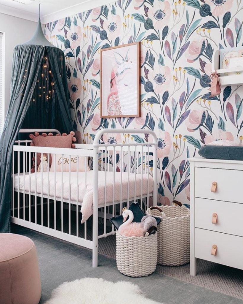 Oh eight oh nine pink and green babys room