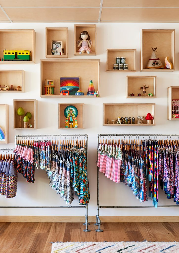 Rack of clothes in Oishi-m store