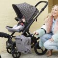 Rachelle Rowlings with baby in pram