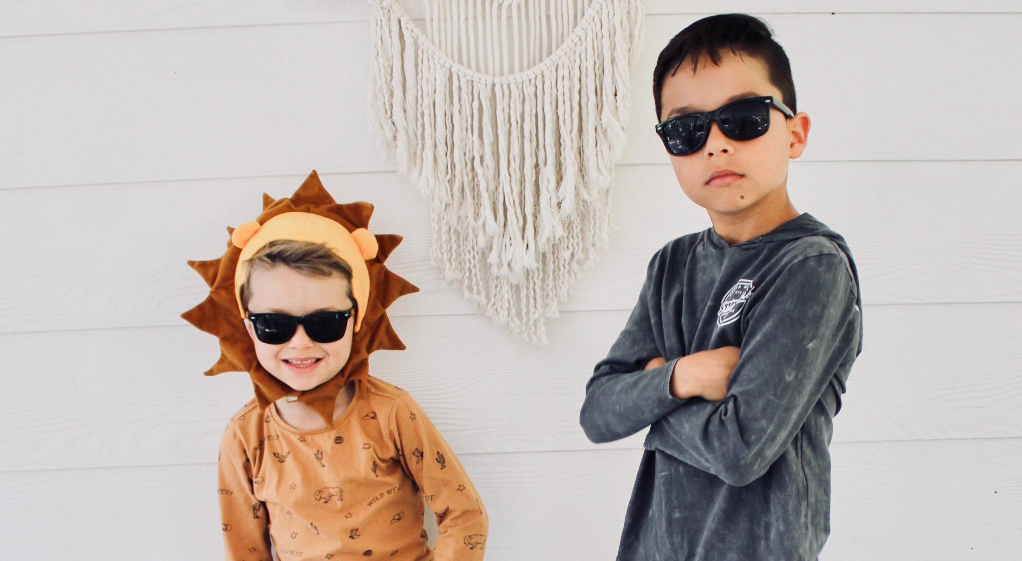 Two cute boys posing