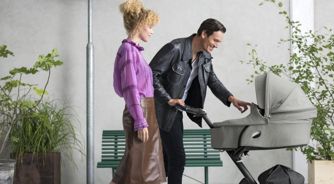 Mum and dad with Stokke Xplory 6