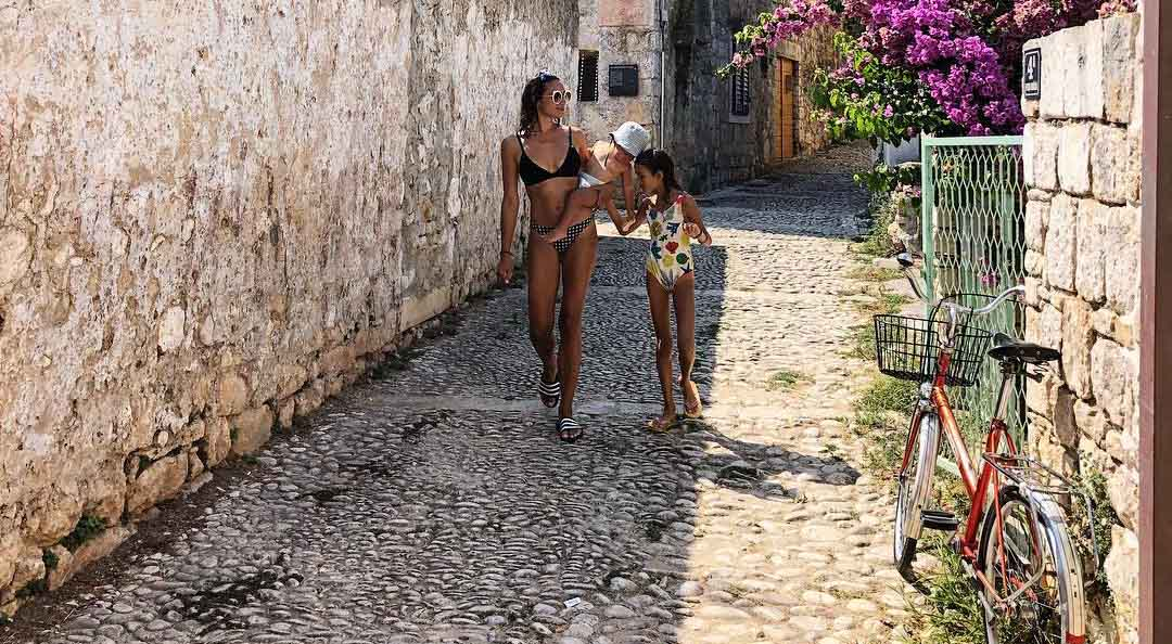 Natalie Decorte on holiday in Croatia with kids