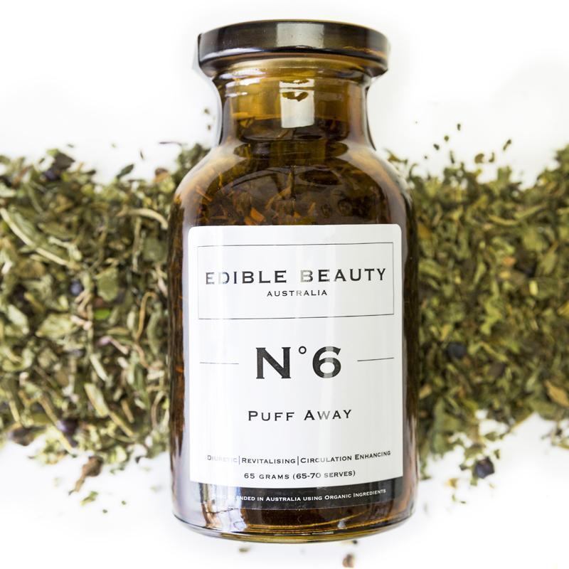 Edible Beauty No 6 Puff Away jar tea
