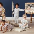 Kids in new ergopuch Nature collection sleepwear