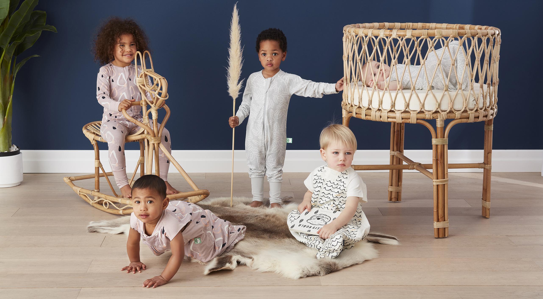 Kids in new ergopuch Nature collection sleepwear