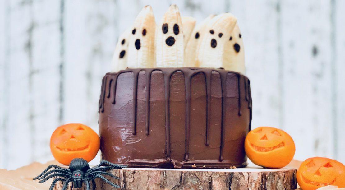 Mandy Sacher Halloween marble cake with banana ghosts