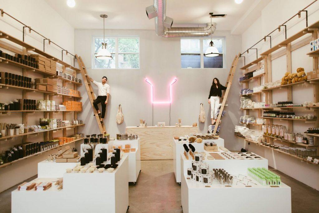 Inside eco friendly Package Free store Brooklyn