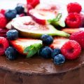 Whole Vegan Pantry Raw chocolate cake with ganache and raspberries