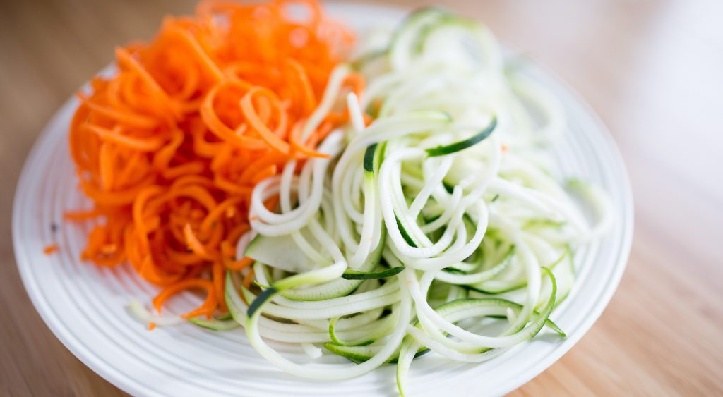 Zoodles and carrots