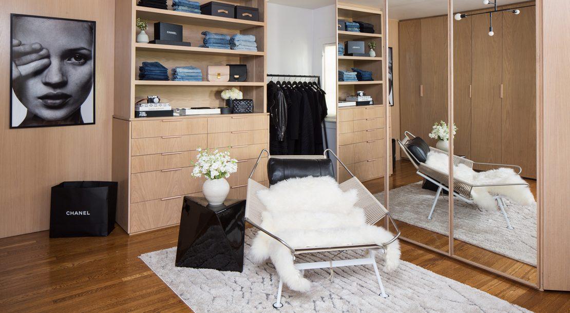 Beautiful walk in wardrobe by Lisa Adams