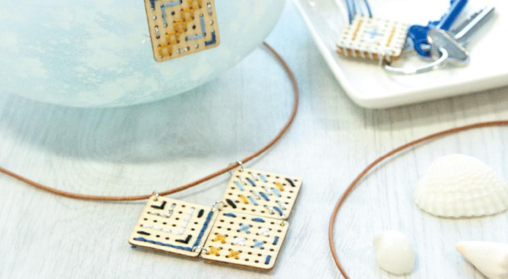Close up Micador Coastal Calm jewellery kit
