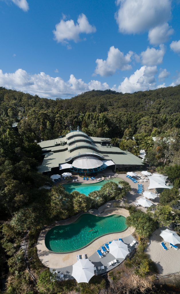 Kingfisher Bay Resort aerial view