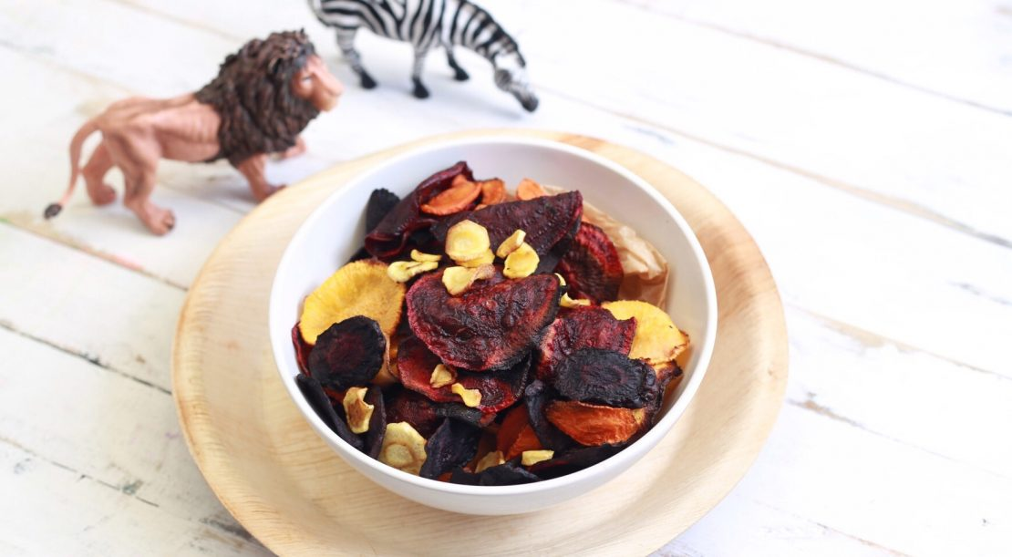 Root vegetable chips by Mandy Sacher