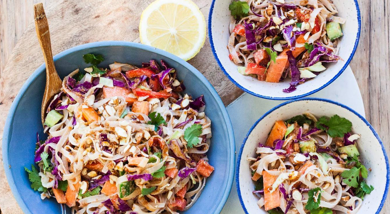 Whole Vegan Pantry Quick and easy Noodle Salad with Almond Butter Sauce
