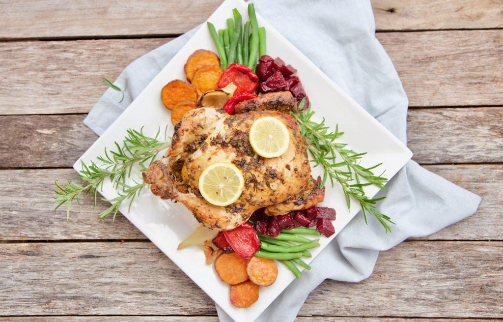 Full view Mandy Sacher Roast chicken in marinade