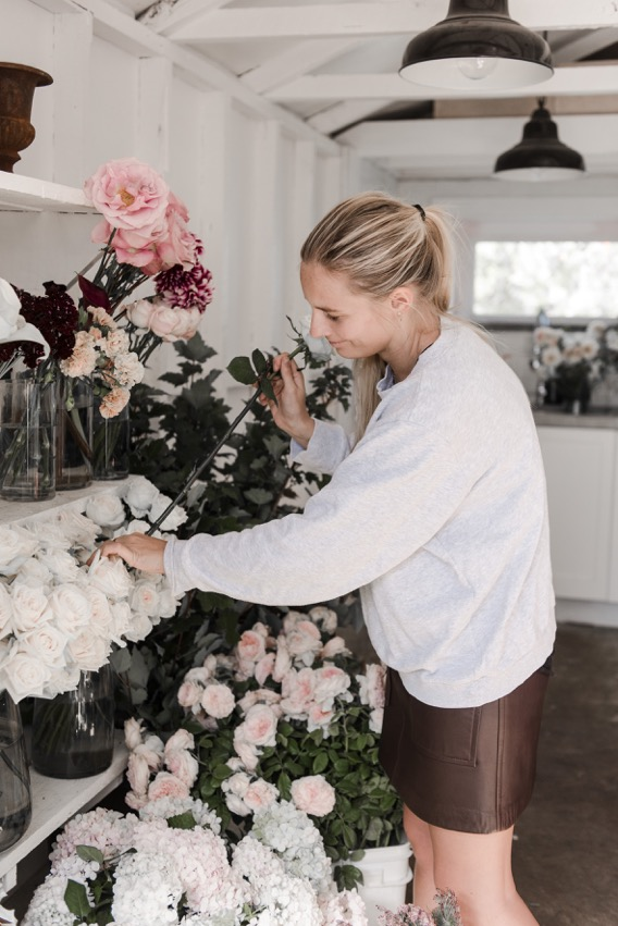 Emily Smith from Boutierre Girls flower arranging