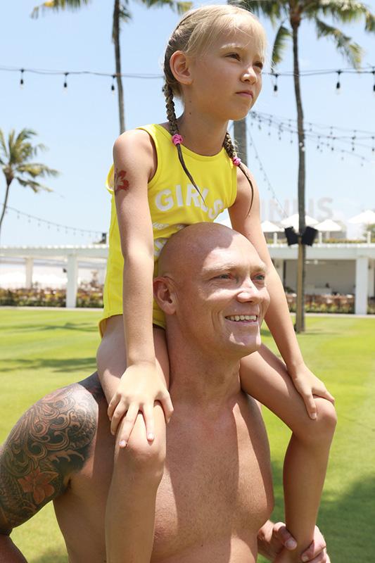 Michael Klim with daughter Frankie