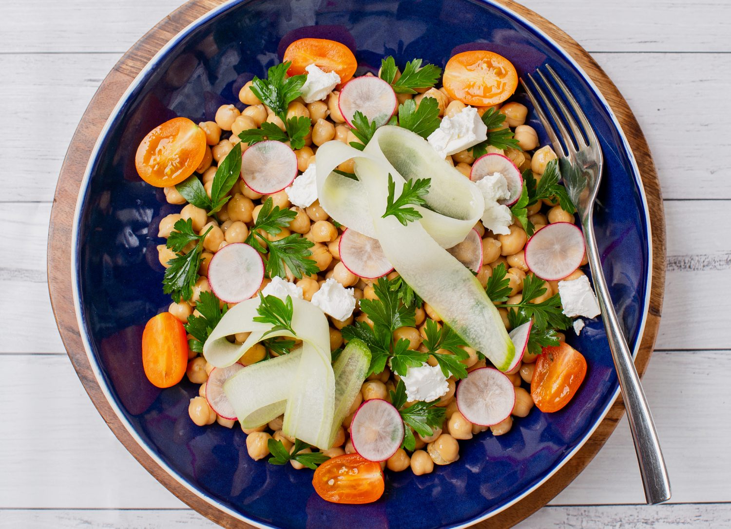 chickpea, parsley and feta salad mama disrupt