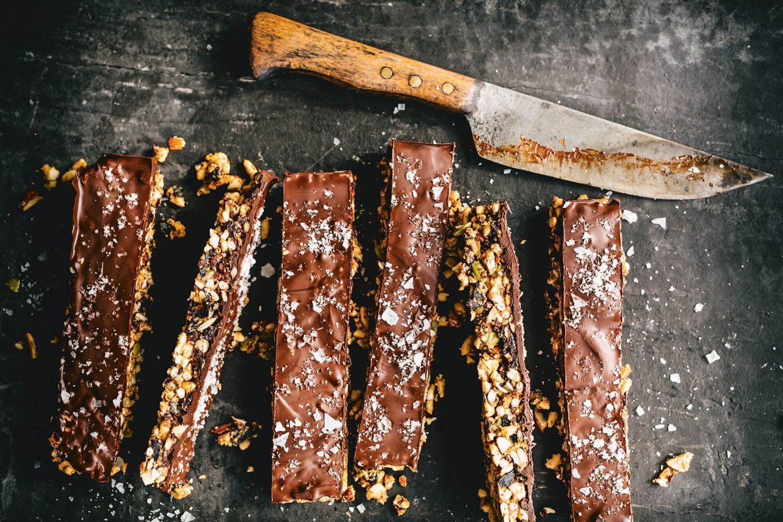 smoky chocolate cereal bars mama disrupt