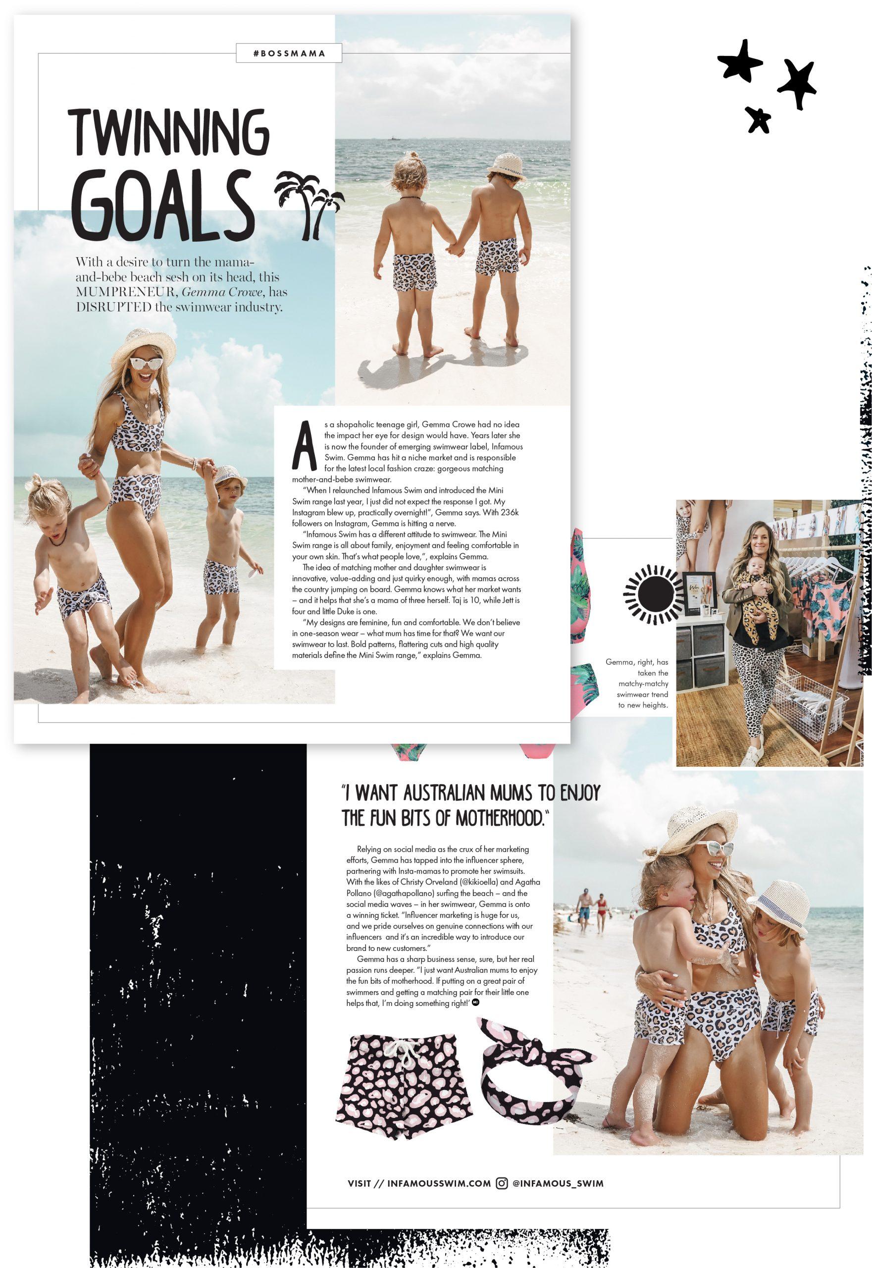 Mama Disrupt® Twinning Goals Artwork Example